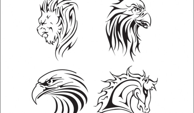 4 Animal Tattoo Vectors
