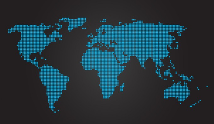 world map vector. Dotted World Map Vector